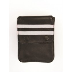 Mister B Leather Wallet for Harness Black White portafoglio per harness o per bracciale avambraccio bicipite