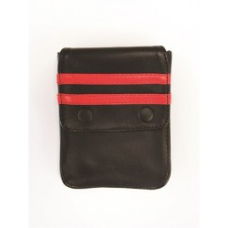Mister B Leather Wallet for Harness Black Red portafoglio per harness o per bracciale avambraccio bicipite