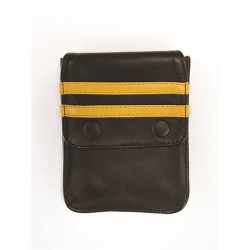 Mister B Leather Wallet for Harness Black Yellow portafoglio per harness o per bracciale avambraccio bicipite