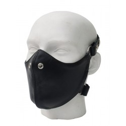 Mister B Leather Bike Mask maschera con fori per naso in leather pelle