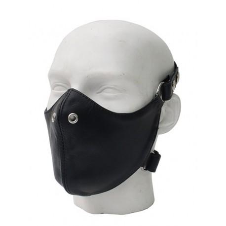 Mister B Leather Bike Mask maschera con fori per naso in leather pelle