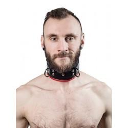 Mister B Slave Collar Red Padding collare morbido per restrizioni