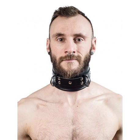 Mister B Slave Collar Black Padding collare morbido per restrizioni