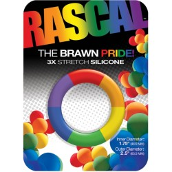 Rascal The Brawn Cockring Rainbow Pride cockring in silicone arcobaleno rainbow gay pride