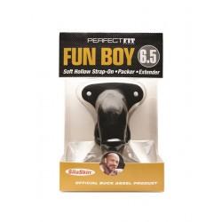 Perfect Fit Fun Boy 16,5 cm. Black cock guaina imita il pacco e rende chiunque dotato o superdotato
