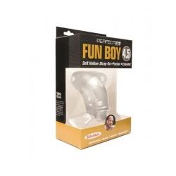 Perfect Fit Fun Boy 11,5 cm. Transparent cock guaina imita il pacco e rende chiunque dotato o superdotato
