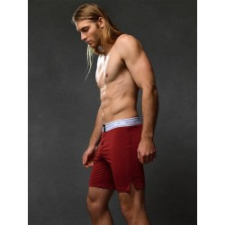 2Eros Core Series 2 Lounge Shorts Underwear Cabernet boxer calzoncini più lunghi intimo uomo