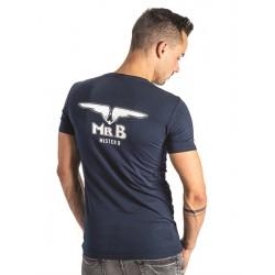 Mister B T-Shirt  Glow in the dark Navy cotone con logo fluorescente