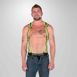 665 Neoprene Heckler Harness Black Yellow harness realizzato in morbido e robusto neoprene
