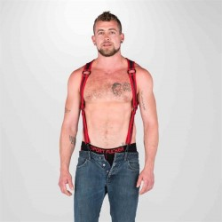665 Neoprene Heckler Harness Black Red harness realizzato in morbido e robusto neoprene