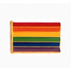 Pin Regenbogen Rechteck Rainbow Rectangle (Pack of 6) confezione di 6 spille rettangolari gay pride rainbow arcobaleno