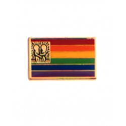 Pin Rainbow Flag w/Design spilla gay pride rainbow arcobaleno con disegno Keith Haring