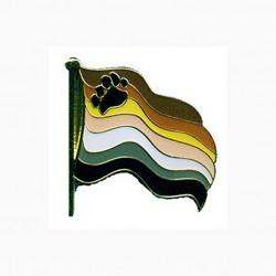 Pin Bear Flag With Screw Back spilla bear orsi gay pride