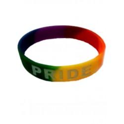 Rainbow Pride Bracelet Silicone braccialetto gay pride rainbow arcobaleno