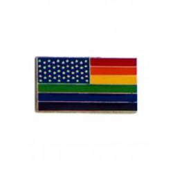 Pin Stars And Rainbow Stripes spilla con stelle e striscie con i 6 colori dell'orgoglio gay pride rainbow arcobaleno