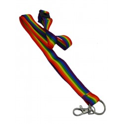 Lanyard Key Chain with Buckle Rainbow Gay Pride Arcobaleno collana portachiavi