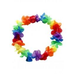 Rainbow Hawaii Flower Wreath collana hawaiana fiori gay pride arcobaleno