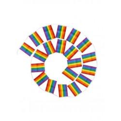 Rainbow Flag-Chain 14 x 21 cm. festone di 10 metri con 20 bandierine rainbow gay pride