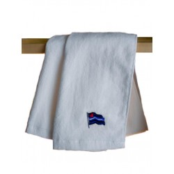Leather Gay Pride Gym Towel White 30 x 112 cm. asciugamano leather gay pride