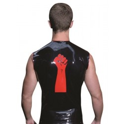 Mister B Rubber Sleeveless FIST T Red Trimming smanicata rubber gomma