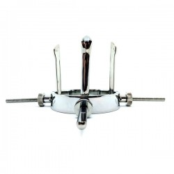 Black Label Stainless Steel Hole Expander dilatatore speculum anale realizzato in acciaio inox