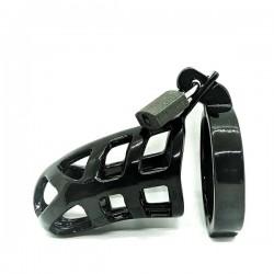 Black Label Black Chastity Series Brutus Stainless Steel Ø 50 mm. gabbia di castità in acciaio inox per il pene