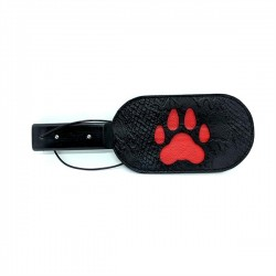 Black Label Puppy Paw Paddle paletta per sculacciare e giochi s/m in simil pelle
