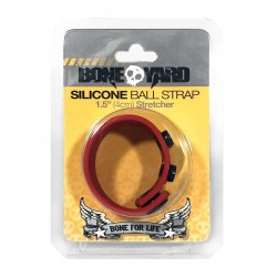 Boneyard Silicone Ball Stretcher Red in silicone