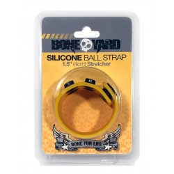 Boneyard Silicone Ball Stretcher Yellow in silicone