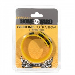 Boneyard Silicone Cock Strap Yellow cockring in silicone