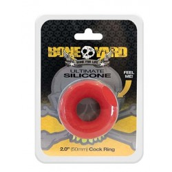 Boneyard Ultimate Silicone Ring Red di cockring in silicone rosso
