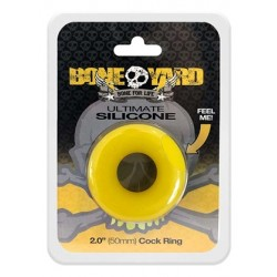 Boneyard Ultimate Silicone Ring Yellow di cockring in silicone giallo