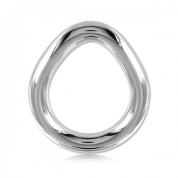 Black Label Stainless Steel Flared Cock Ring Large cocking in acciaio inox