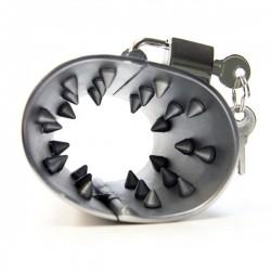 Black Label Spanish Spiked Ball Stretcher stringi scroto con coni appuntiti in acciaio inox