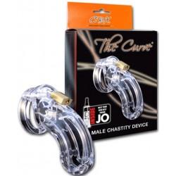 CB-Curve Chastity Cage Clear 95 mm. x 38 mm. gabbia di castità per il pene