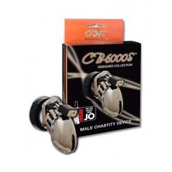CB-6000S Chastity Cage Chrome 63.5 mm. x 35 mm. gabbia small/medium castità pene in policarbonato
