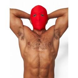 Mister B Lycra Hood Eyes Open Only Red maschera cappuccio con fori solo per gli occhi