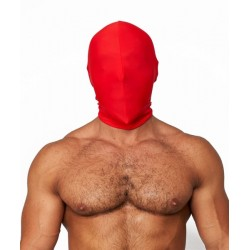 Mister B Lycra Hood No Holes Red maschera cappuccio in tessuto