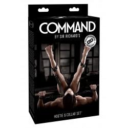 COMMAND by Sir Richard's Hogtie & Collar Set accessorio BDSM blocca il collo i polsi e le caviglie