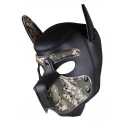 RudeRider Neoprene Puppy Hoods Camo maschera cucciolo in neoprene mimetico