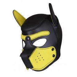 RudeRider Neoprene Puppy Hoods Yellow maschera cucciolo in neoprene