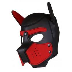 RudeRider Neoprene Puppy Hoods Red maschera cucciolo in neoprene