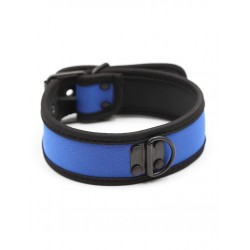 RudeRider Neoprene Puppy Collar Blue collare in neoprene