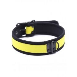 RudeRider Neoprene Puppy Collar Yellow collare in neoprene