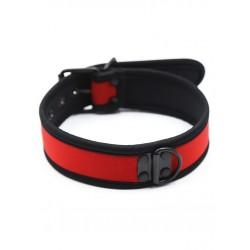 RudeRider Neoprene Puppy Collar Red collare in neoprene