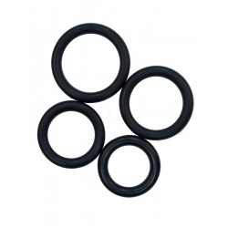 RudeRider Fix Rubber Cock Ring Thick Set kit con 4 cockring spessi