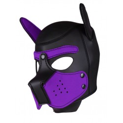 RudeRider Neoprene Puppy Hoods Purple maschera cucciolo in neoprene