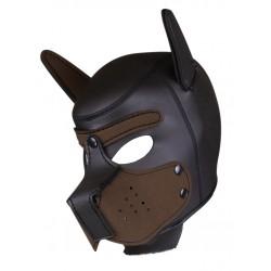 RudeRider Neoprene Puppy Hoods Brown maschera cucciolo in neoprene