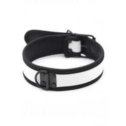 RudeRider Neoprene Puppy Collar White collare in neoprene