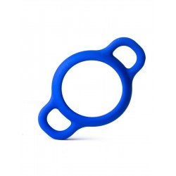 RudeRider Handle Silicone Ring Blue cockring anello per il pene in silicone